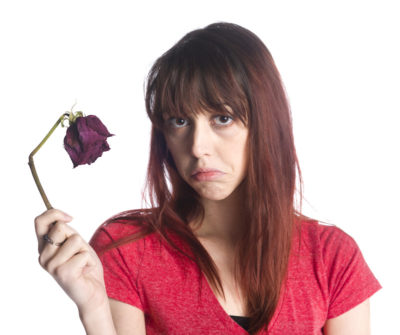 woman disappointed by partner's sexual impotence