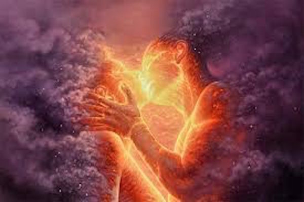 spiritual lovers during ecstatic sacred sex
